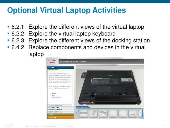 Optional Virtual Laptop Activities