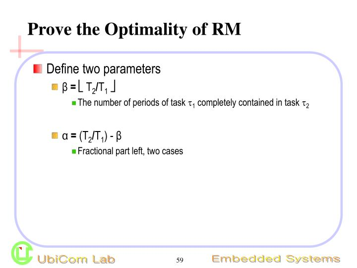 Prove the Optimality of RM