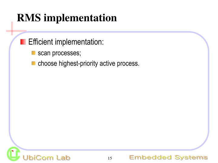 RMS implementation
