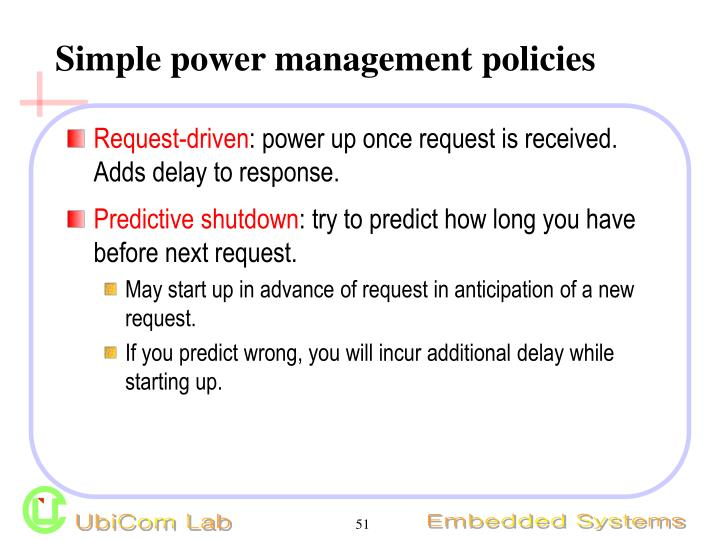 Simple power management policies