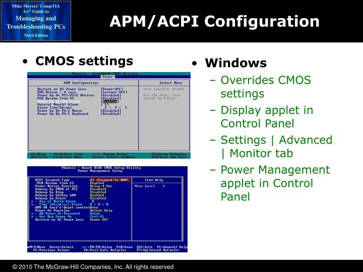 APM/ACPI Configuration