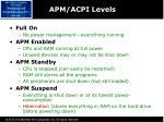 apm acpi levels