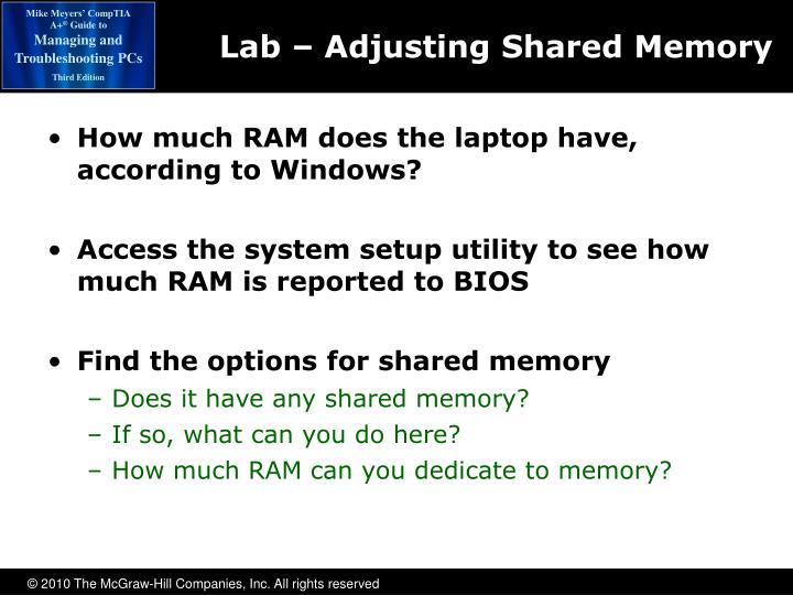 Lab – Adjusting Shared Memory