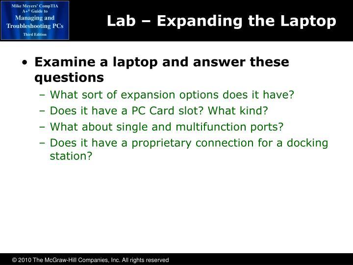 Lab – Expanding the Laptop