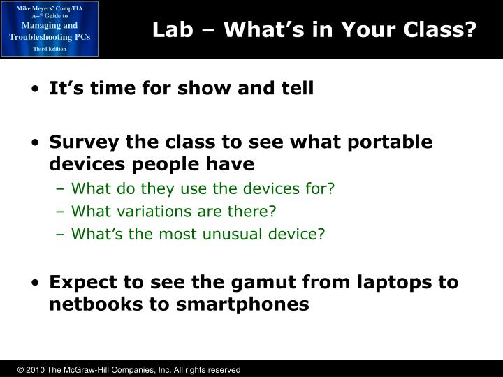 Lab – What's in Your Class?