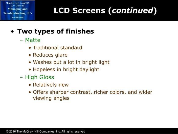 LCD Screens (