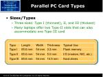 parallel pc card types