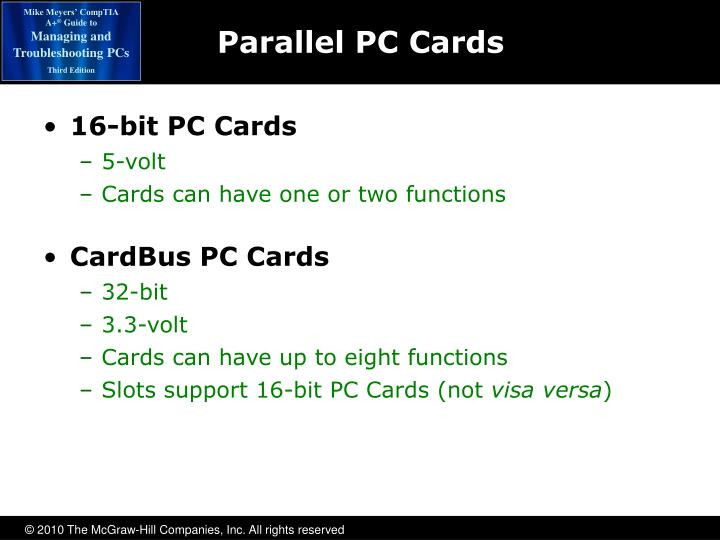 Parallel PC Cards