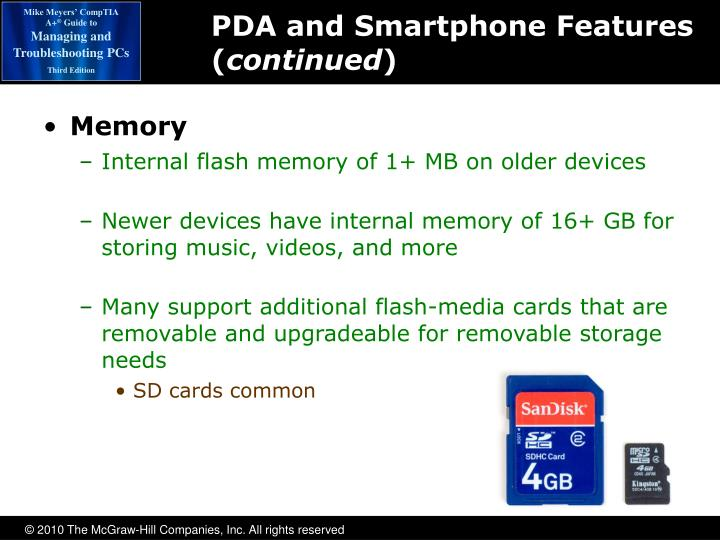 PDA and Smartphone Features (