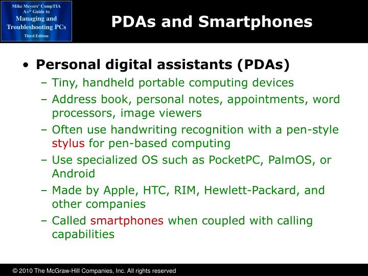 PDAs and Smartphones