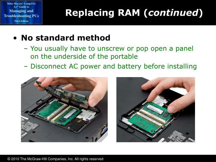 No standard method