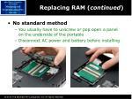 replacing ram continued