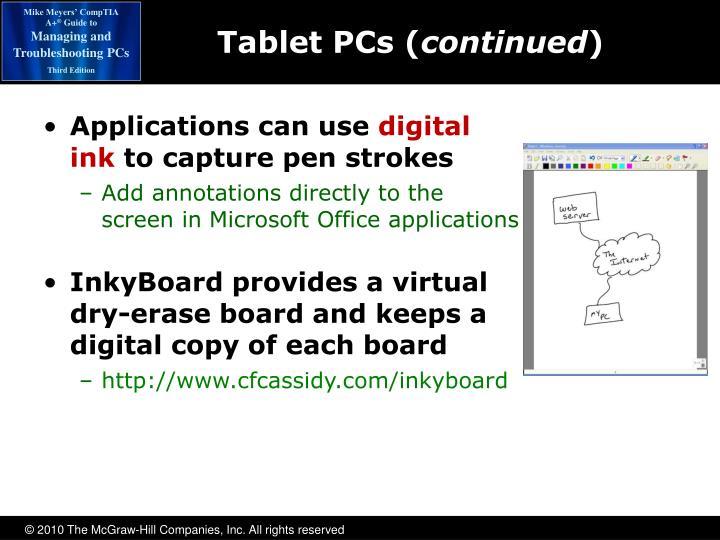 Tablet PCs (