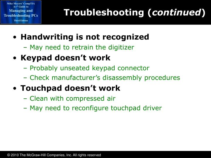 Troubleshooting (