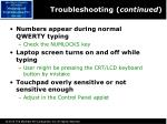 troubleshooting continued1