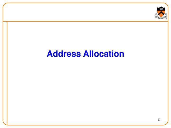 Address Allocation