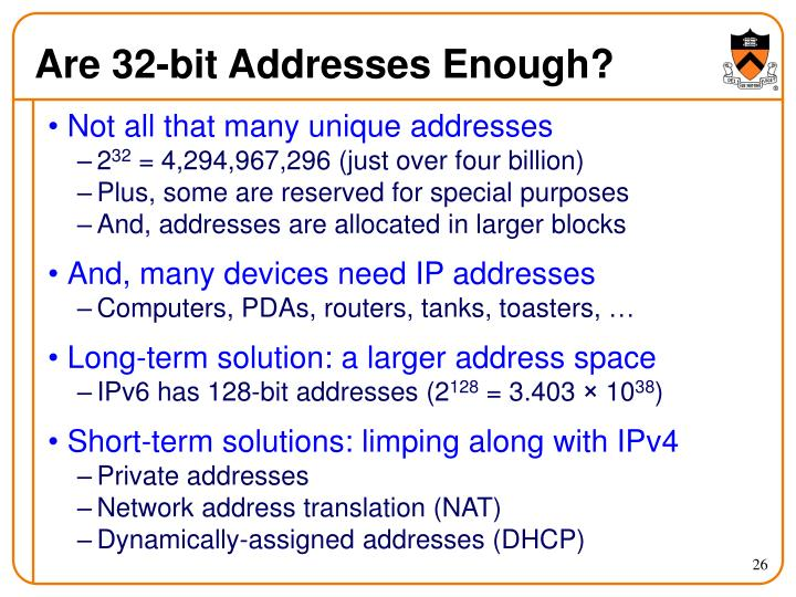 Are 32-bit Addresses Enough?