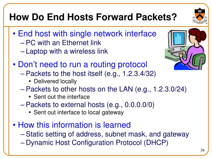 How Do End Hosts Forward Packets?
