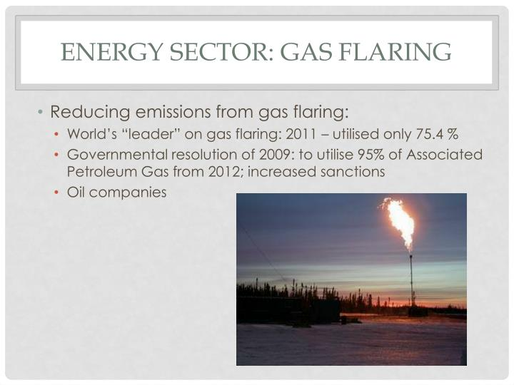 Energy sector: gas flaring