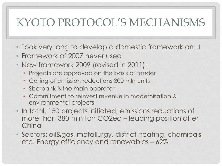Kyoto protocol's mechanisms