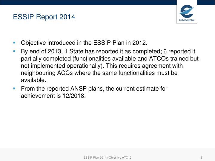 ESSIP Report