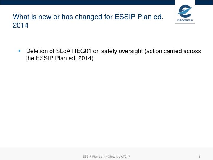 What is new or has changed for ESSIP Plan ed. 2014