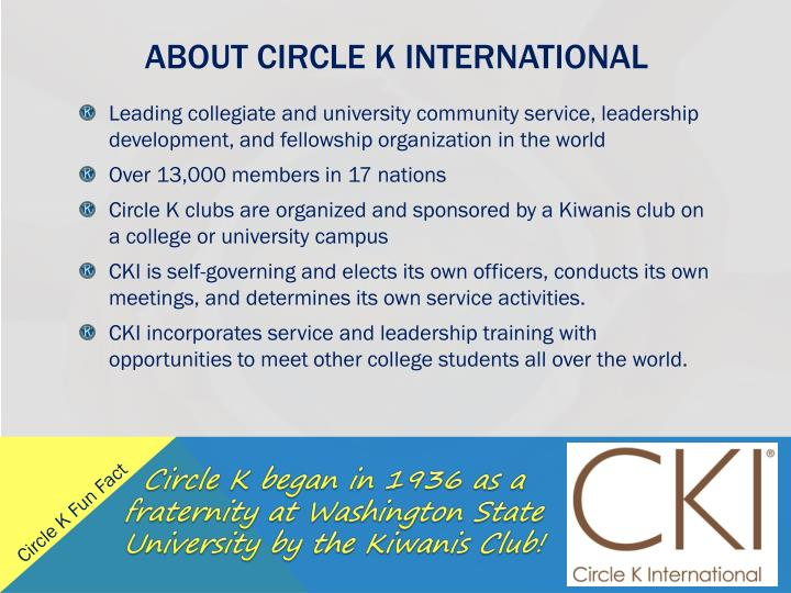 About circle k international