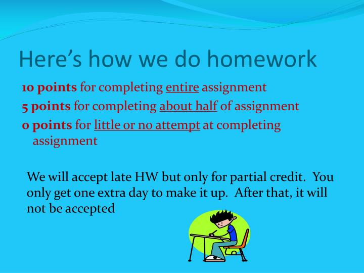 Here's how we do homework