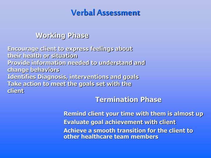 Verbal Assessment