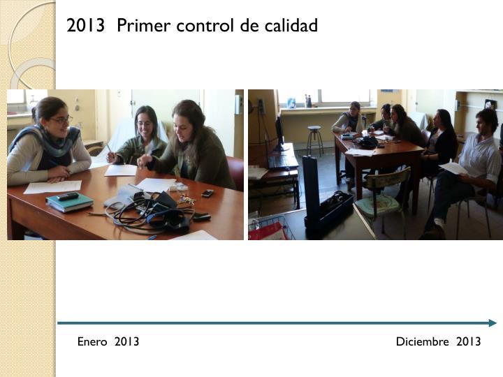 2013 Primer control de