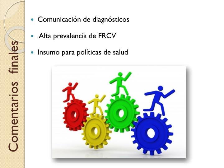 Comunicación de diagnósticos