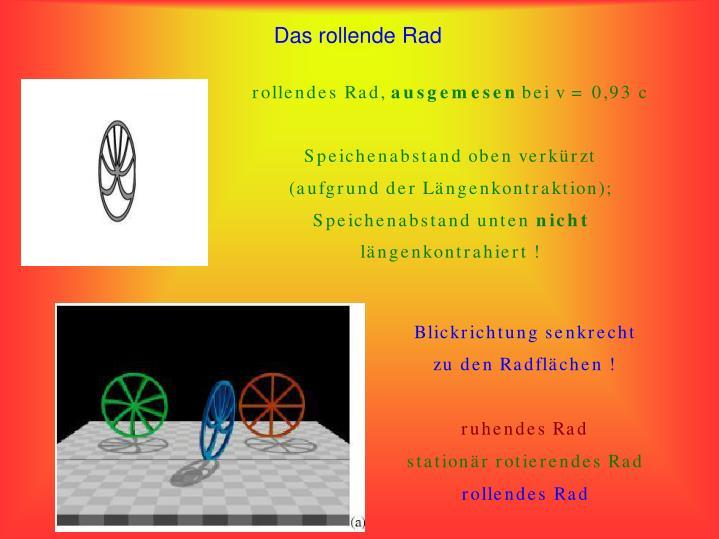 Das rollende Rad