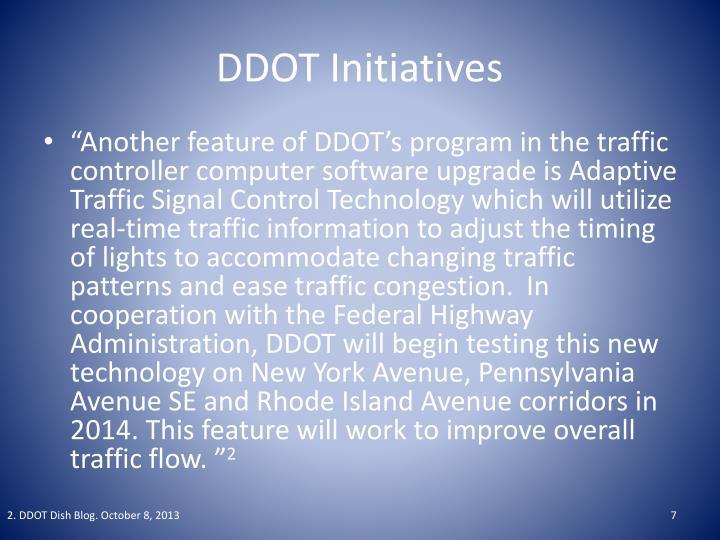 DDOT Initiatives