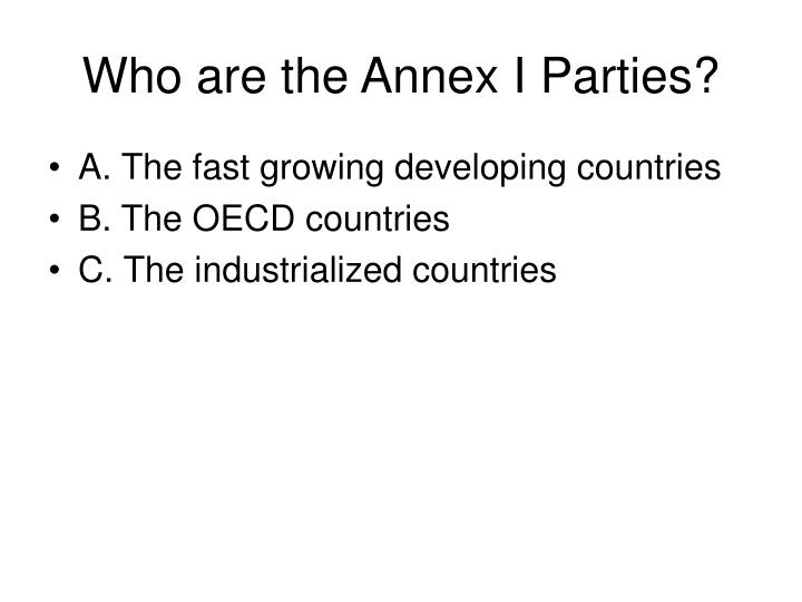 Who are the Annex I Parties?