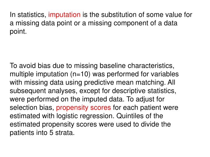 In statistics,