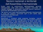 sezioni nazionali o territoriali dell assemblea internazionale