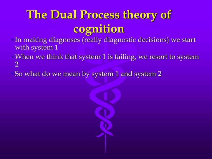 The Dual Process theory of cognition
