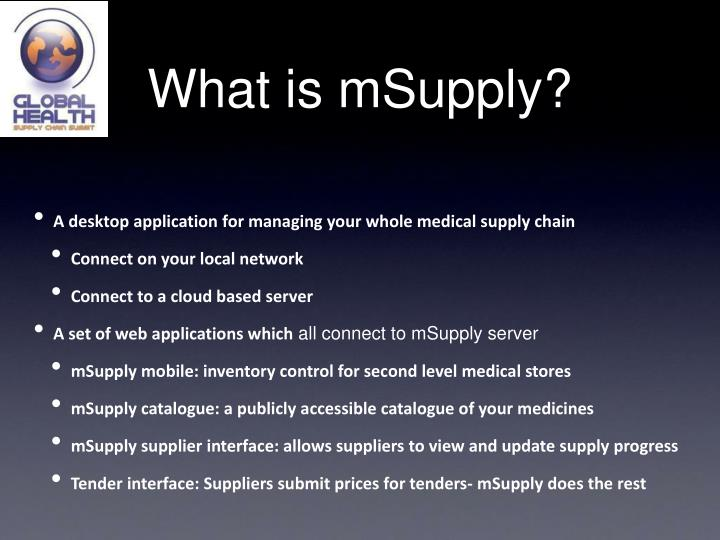 What is mSupply?