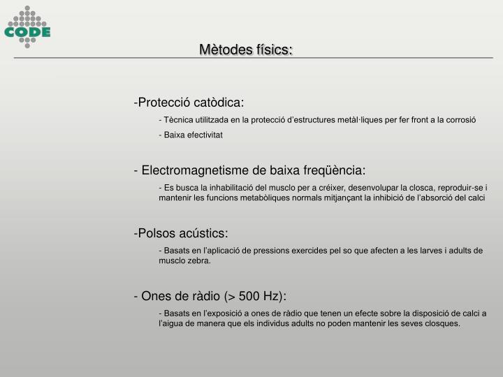 Mètodes físics: