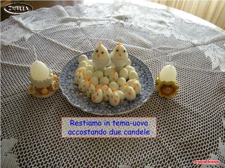 Restiamo in tema-uova accostando due candele