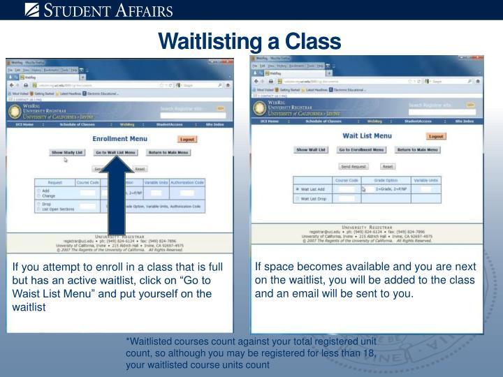 Waitlisting