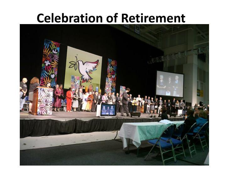 Celebration of Retirement
