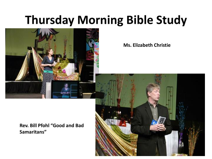 Thursday Morning Bible Study