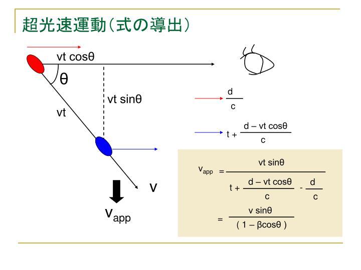 超光速運動(式の導出)