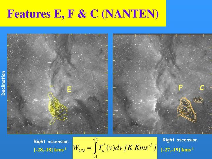 Features E, F & C (NANTEN)