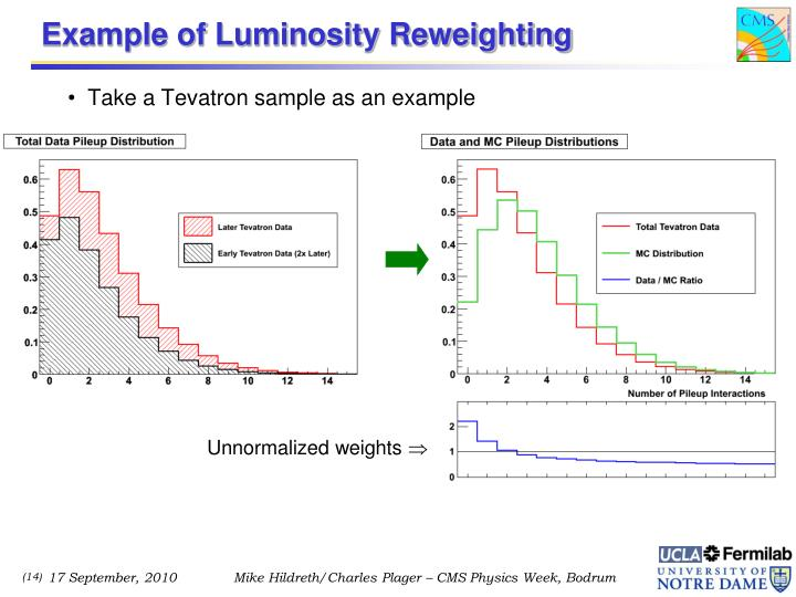 Example of Luminosity Reweighting