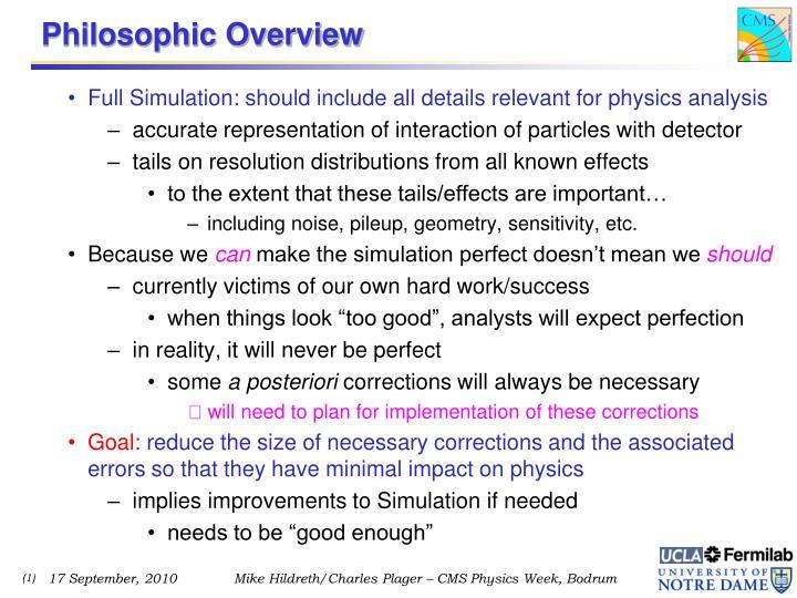 Philosophic Overview
