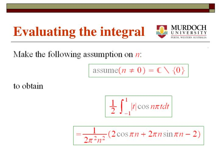 Evaluating the integral