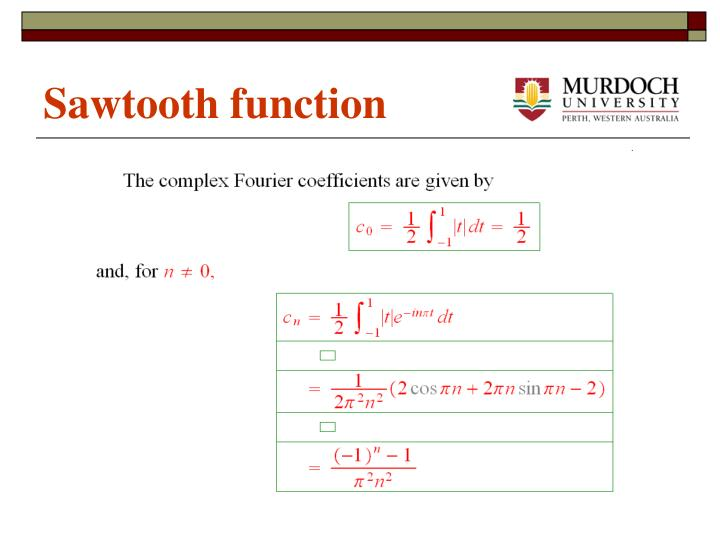 Sawtooth function