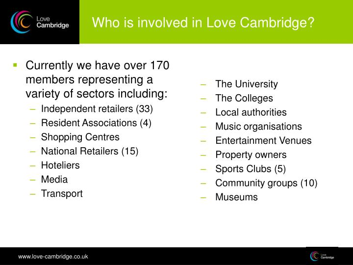 Currently we have over 170 members representing a variety of sectors including: